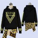 【女性S、M・即納品】A3!エースリー! 夏組 斑鳩三角 私服 改良版(黒) コスプレ衣装